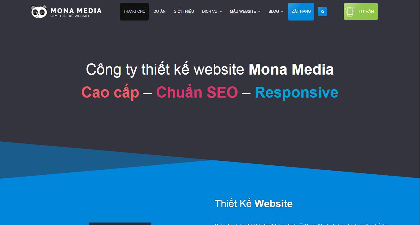 Công ty thiết kế web theo yêu cầu Mona Media