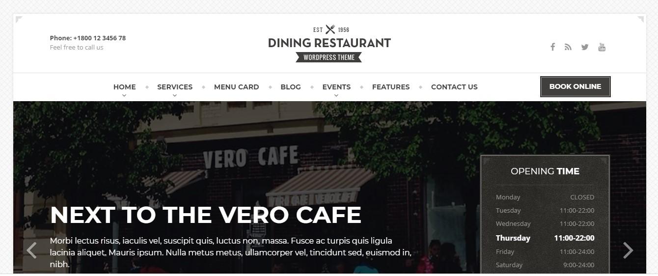 Website giới thiệu dịch vụ bữa tối cho nhà hàng sang trọng