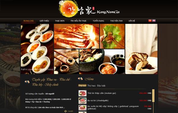 Mẫu website cho những nhà hàng sang trọng.