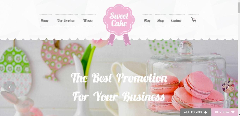 Mẫu website cho nhà hàng Sweet Cake