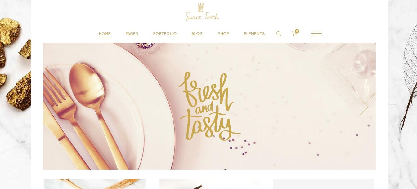 Website bán thực phẩm tráng miệng cho tiệm ăn sang trọng