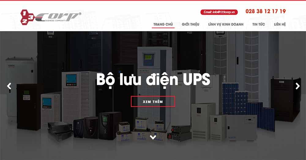 Công ty thiết kế web 123Corp