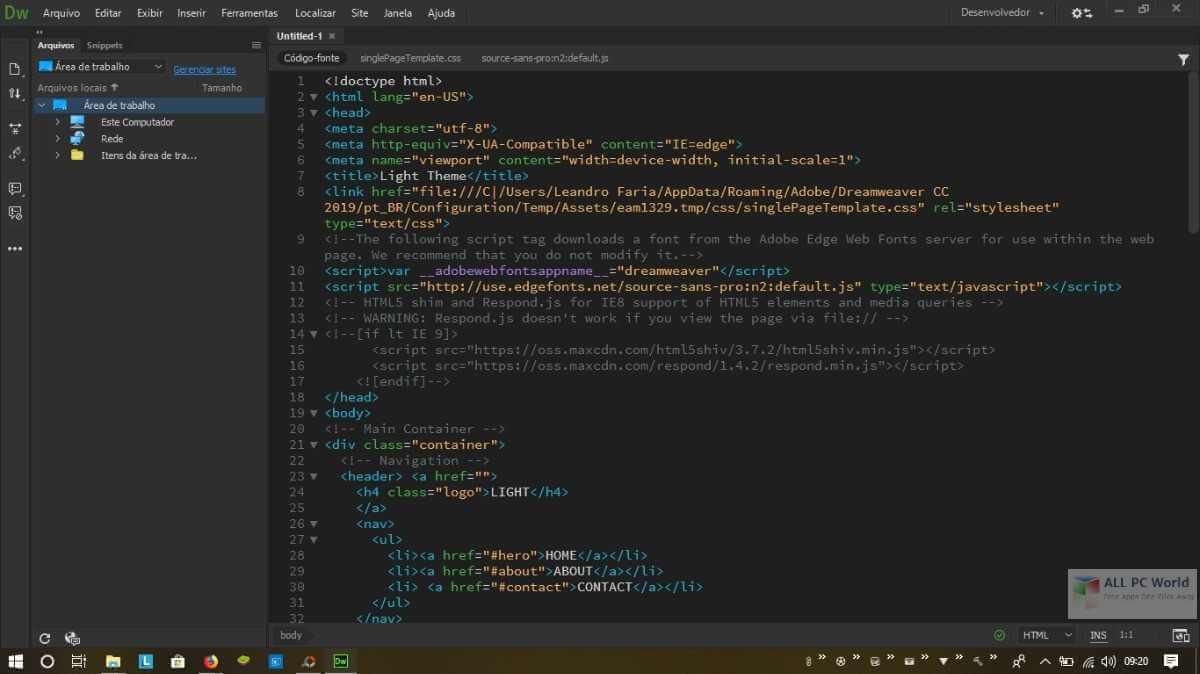 Phần mềm thiết kế website dreamweaver