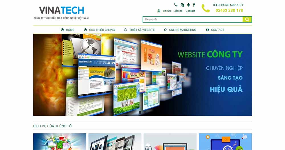Công ty thiết kế website VinaTech