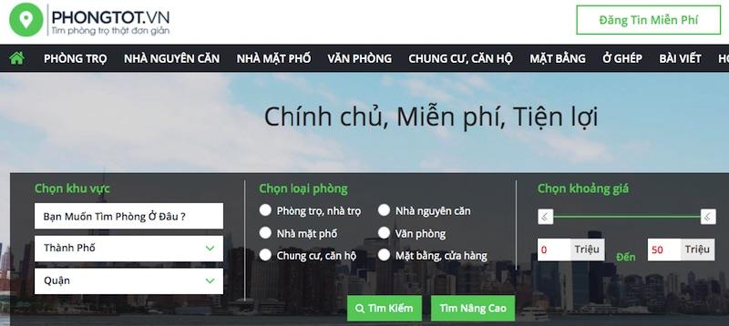 phongtot - website tìm phòng trọ uy tín