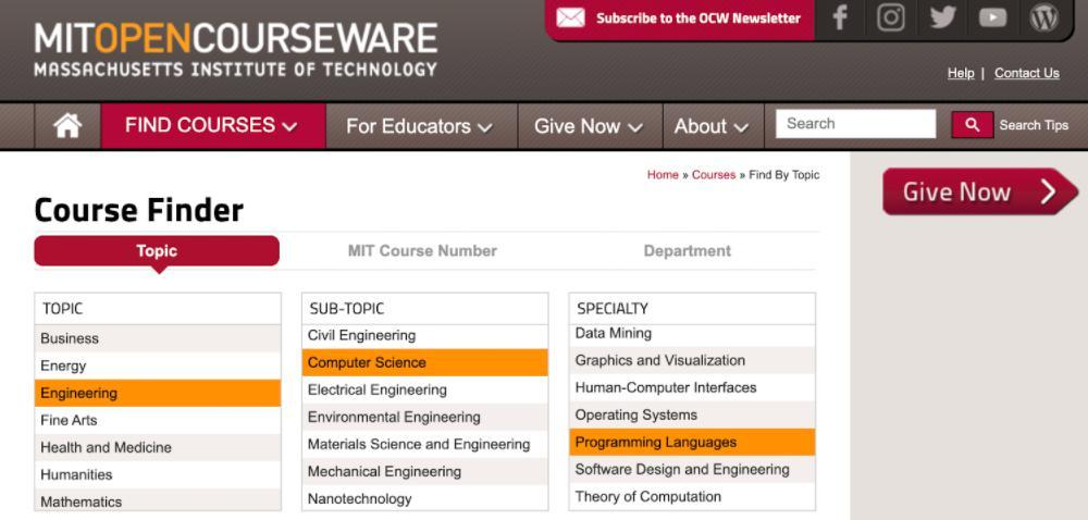 Học lập trình online miễn phí MIT Open Courseware