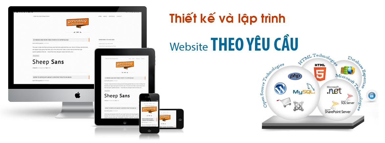 Thiết kế website theo yêu cầu.