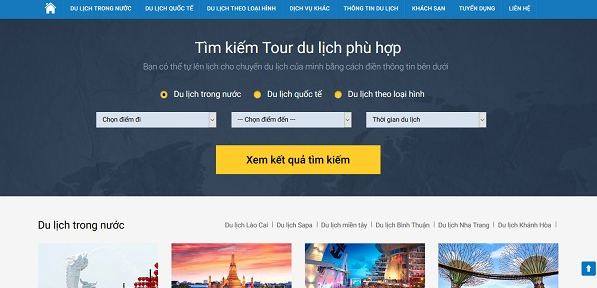 Tối ưu công cụ tìm kiếm trên website du lịch