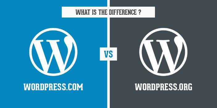 Phân biệt WordPress.com và WordPress.org.