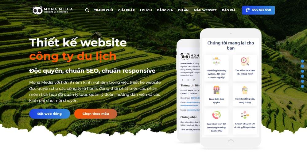Công ty Thiết kế Website Du lịch Mona Media