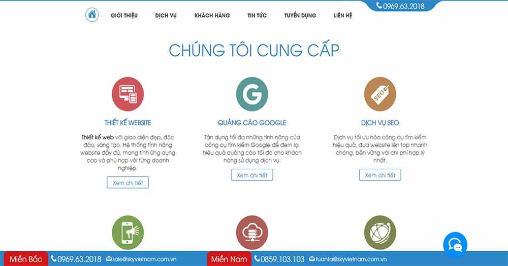 Công ty thiết kế website Sky VietNam