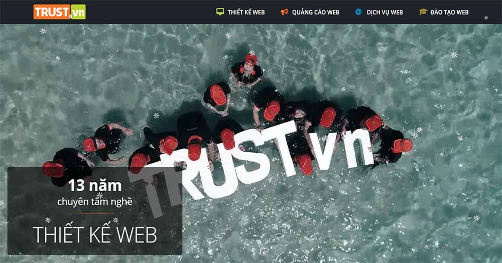 Công ty thiết kế website du lịch Trust