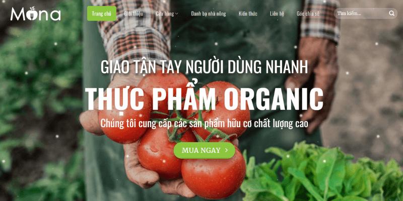theme wordpress bán hàng thực phẩm organic