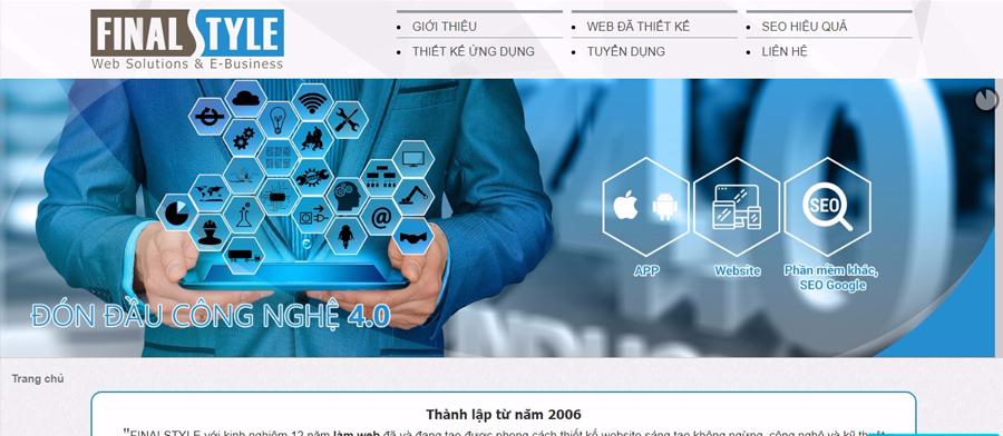 Công ty thiết kế web nhập hàng - FinalStyle