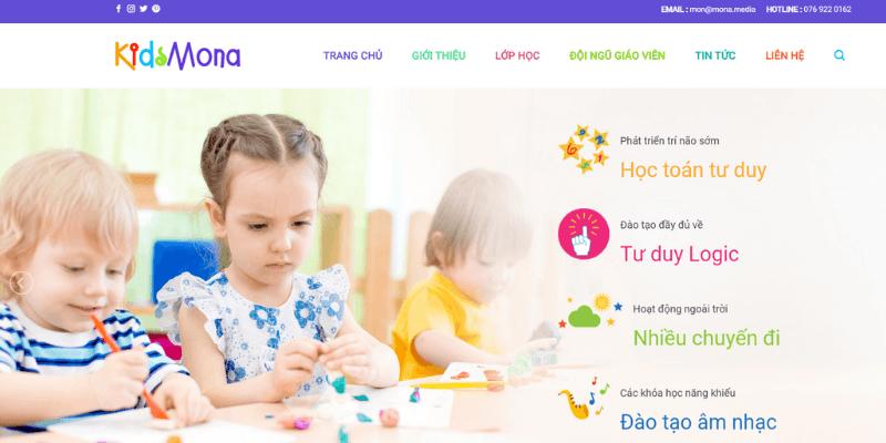 theme wordpress giáo dục trẻ em Mona Kids