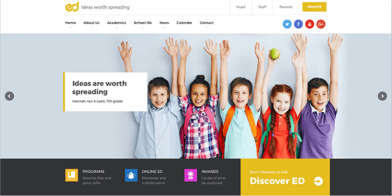 theme wordpress giáo dục